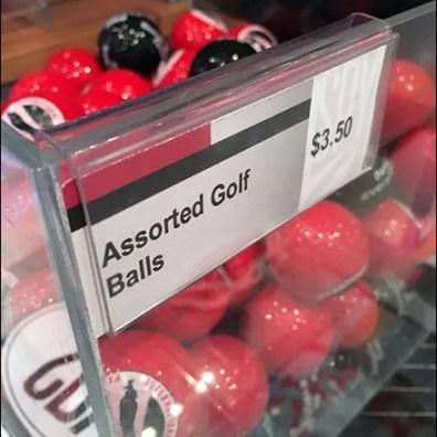 Acrylic Golf Ball Bulk Bin At Spy Museum