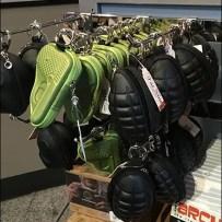 Hand Grenade Display Hooks At Spy Museum