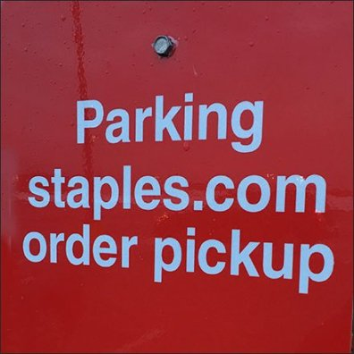 Staples Online Shopping Reserved Parking Feature