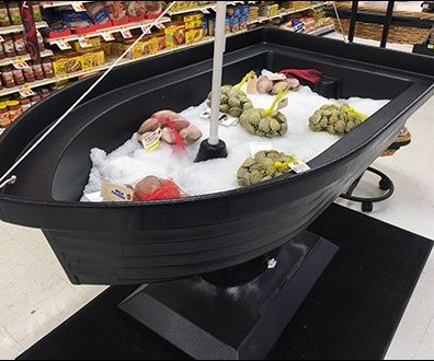Iced Boatload Offering of Fresh Ocean Seafood