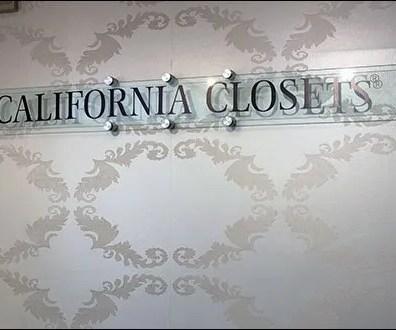 California Closets Branded Sign Standoffs