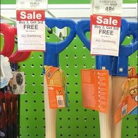 Kids Garden Tool Display By Straight-Entry Hook