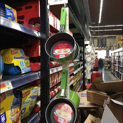 Cookware Strip Merchandiser Cross Sell