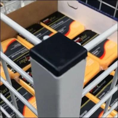 Corner Capped Open Wire Hardware Bulk Bin