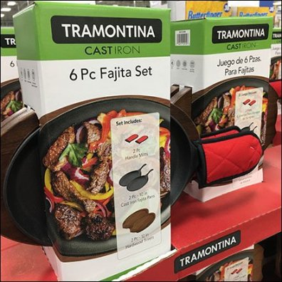 Fajita Grilling Cookware Set Pallet Merchandising Feature