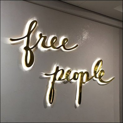 Free People Store Branding Freely Inscribed