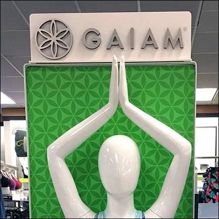 Gaiam Athleisure Yoga Endcap Feature