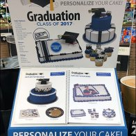 Custom Cake Order Display for Graduation