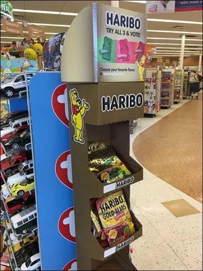 Haribo Gummy Bear Corrugated Tower