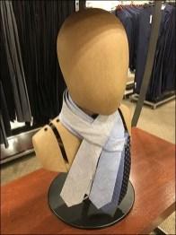 Headform Necktie Drape Stolen From Scarves