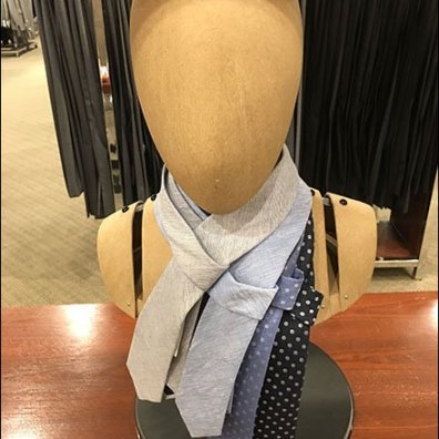 Headform Necktie Drape Stolen From Scarves