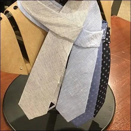 Headform Necktie Drape Feature
