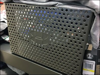 Under Armour Perforated Metal Branding