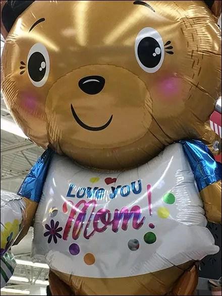 Love You Mom Teddy Bear Inflatable