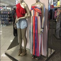 Girlfriends Modeled Hand-in-Hand by Mannequins