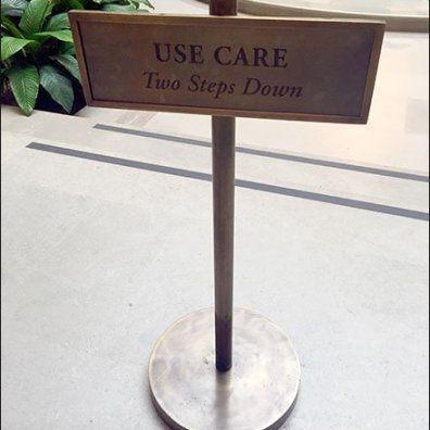 Academy of Arts Use Care Step Down Warning