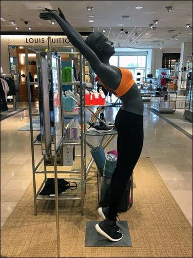 Athleisure Backbend Merchandising At Neiman Marcus