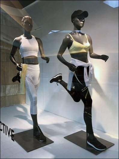 Athleisure Store Window Wayfinding