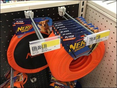 Nerf Dog Flying Disk Frisbee Straight Entry Hook 3