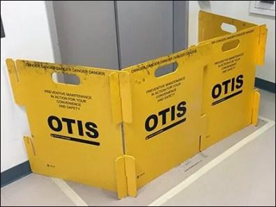 Danger Danger Otis Elevator Barricade Sign