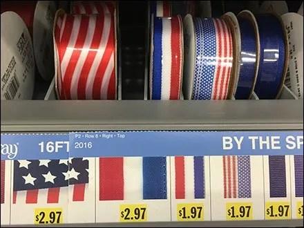 Patriotic Ribbon Shelf Management System