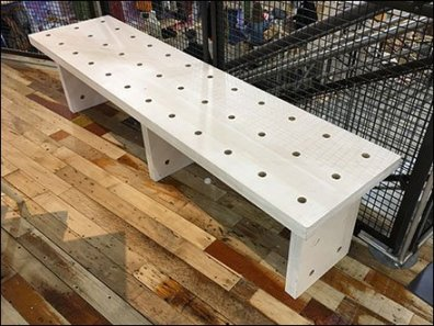 Urban Outfitters Perforated Wood Bench