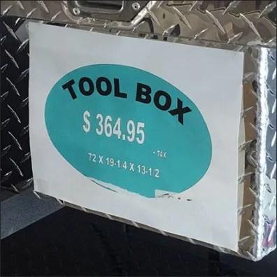 Redneck Pickup Truck Toolbox Merchandising