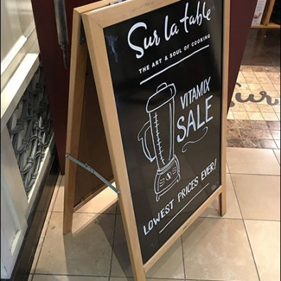 Sur La Table Faux Chalkboard Entry Easel Sign
