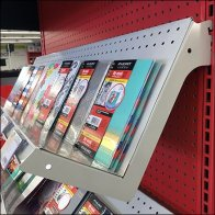 Back-To-School Endcap Drop-Arm Shelf