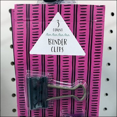 Binder Clips By Straight-Entry Hook Feature