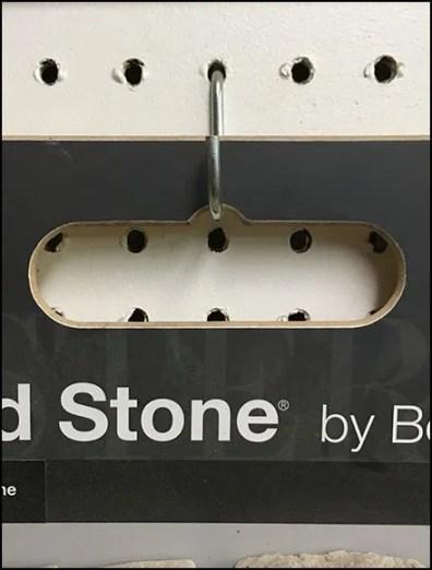 Boral Stone Pegboard J-Hook Sample Hanger
