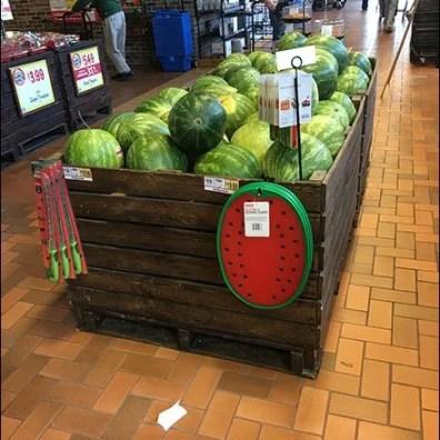 Bulk Bin Display Hook for Watermelon Board