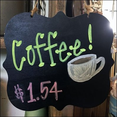 In-Store Coffee Chalkboard