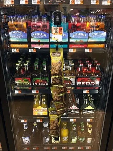 Cooler Door Strip Merchandiser Beer Nut Cross Sell – Fixtures Close Up