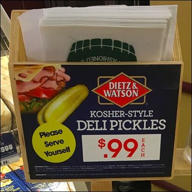 Dietz & Watson Pickle Barrel Upgrade