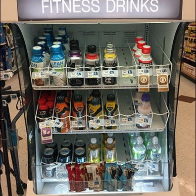 Fitness Drink Grab-N-Go Gravity Feed Cooler