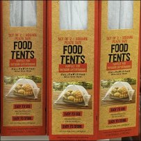 Food Tent Slatwall Display By 90º Tip Hook