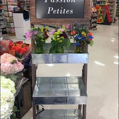 Galvanized Tray Flower Merchandising