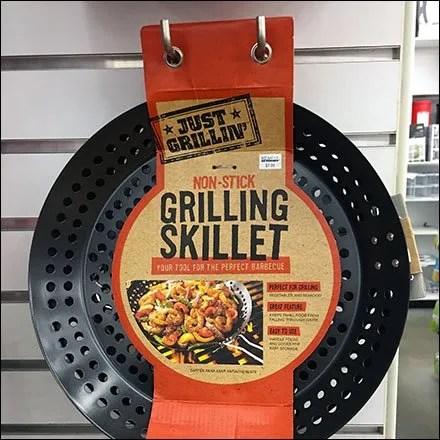 Grilling Skillet Slatwall Display Via Hook Twins