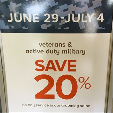 Holiday Veteran and Military Discounts