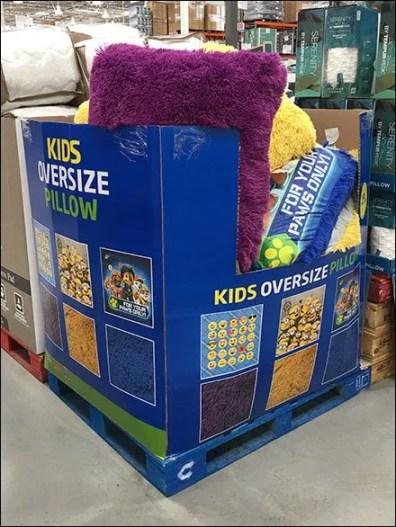 Kids Oversize Pillow Bulk Bin Merchandising