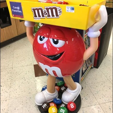 M&M's Mascot Red Character Display