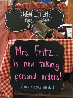 Mrs. Fritz Taking Personal Orders Now In Gingham 3