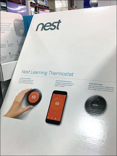 Nest's Thermostat Pick Card Pallet Display