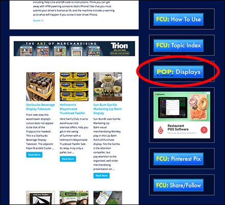 Vote For POPON Point-of-Purchase Displays