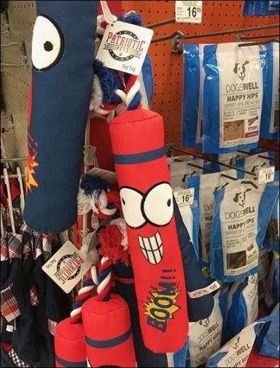 Patriotic Pet Toys Strip Merchandiser