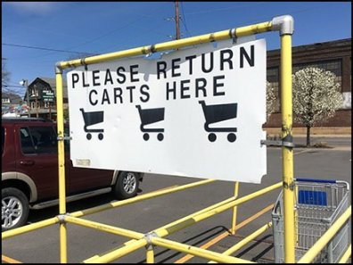 Please Return Shopping Carts Here Billboard