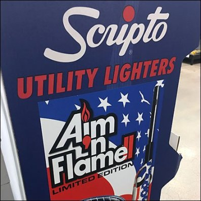Scripto Patriotic Limited Edition Lighter Display