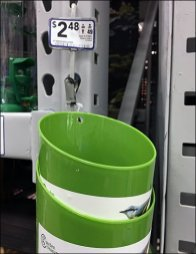 Seed Scoop and Funnel Strip Merchandiser