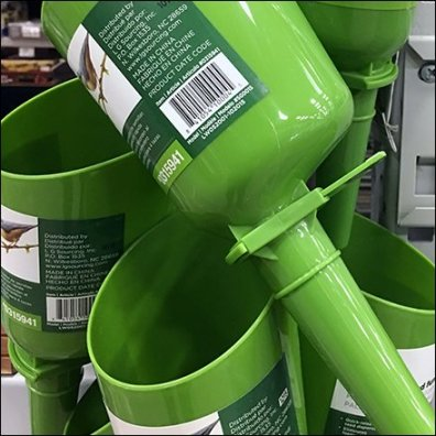 Seed Scoop and Funnel Strip Merchandiser